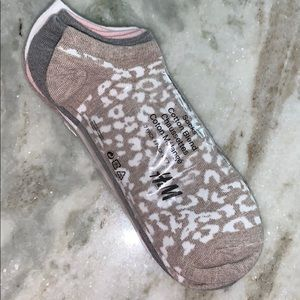 H&M no Show Ankle Socks Leopard Prints